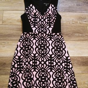 Adrianna Papell pink and black dress